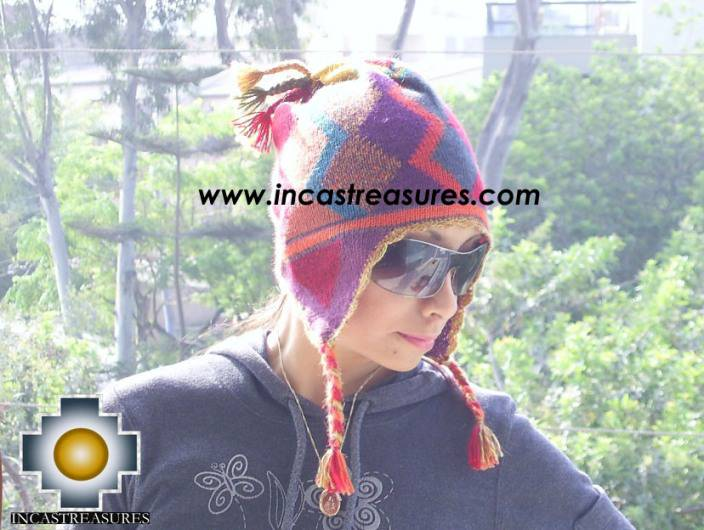 alpaca wool hat geometric designs Wind