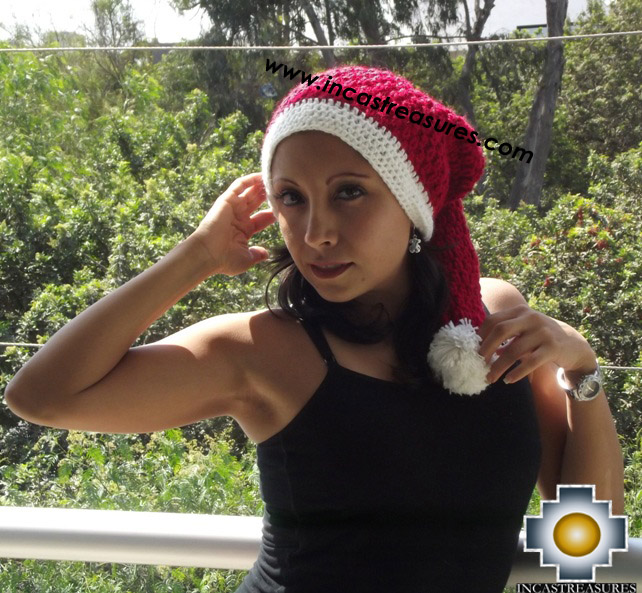 Alpaca Wool Hat Happy Christmas - Product id: Alpaca-Hats15-xmas