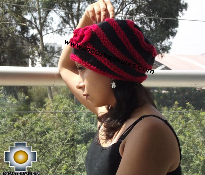 Alpaca Wool Hat Red Spring -  Product id: Alpaca-Hats15-03