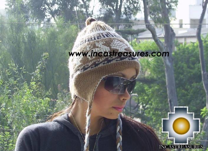 Alpaca Wool Reversible Hat Achachila Inti - Product id: Alpaca-Hats09-25