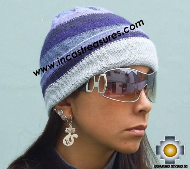 Alpaca Wool Reversible Hat andean sky - Product id: Alpaca-Hats09-47 Photo01