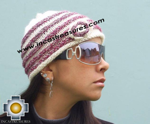 Alpaca Wool Hat worms marbling -  Product id: Alpaca-Hats09-44 Photo01