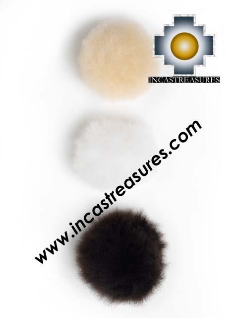 Alpaca Fur Pom Poms for hats