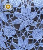 Alpaca Crochet Poncho Flowers Blue - Product id: ALPACA-PONCHO09-17 Photo03