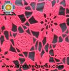 Andean Crochet Poncho Flowers Burgundy - Product id: crochet-poncho-01 Photo03