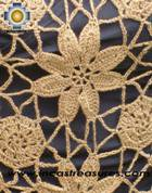 Andean Crochet Poncho Flowers camel - Product id: crochet-poncho-05 Photo03
