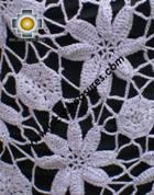 Andean Crochet Poncho Flowers grape - Product id: crochet-poncho-04 Photo03
