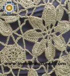 Andean Crochet Poncho Flowers green - Product id: crochet-poncho-07 Photo03