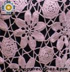 Alpaca Crochet Poncho Flowers pink - Product id: ALPACA-PONCHO09-17 Photo02