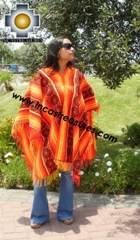 Andean Poncho Hualhua qusqu UNISEX  - Product id:  ANDEAN-PONCHO09-03 Photo03