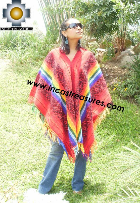 Andean Poncho Hualhua qusqu UNISEX  - Product id:  ANDEAN-PONCHO09-02 Photo01