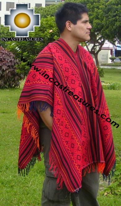 Andean Poncho Hualhua qusqu UNISEX  - Product id: ANDEAN-PONCHO09-01