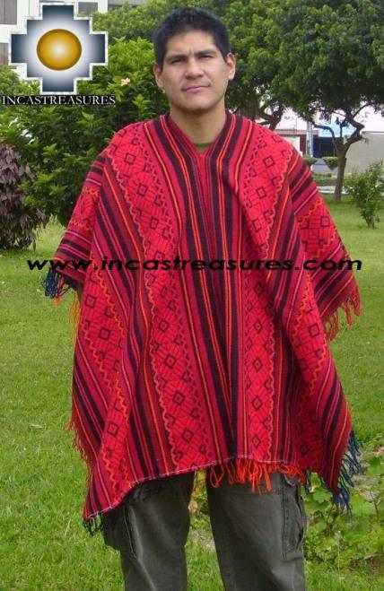 Andean Poncho Hualhua qusqu UNISEX  - Product id: ANDEAN-PONCHO09-01 Photo01