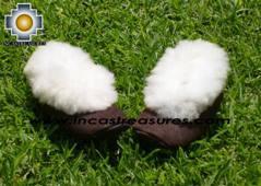 SHEEPSKIN SLIPPER brown HUASCARAN - Product id: SLIPPERS09-01 Photo01