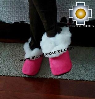 SHEEPSKIN SLIPPER Fucsia Huscaran - Product id: SLIPPERS09-04 Photo03