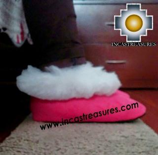 SHEEPSKIN SLIPPER Fucsia Huscaran - Product id: SLIPPERS09-04 Photo04
