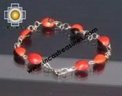 Jewelry bracelet huayruro seeds tuta  - Product id: Andean-Jewelry10-02 Photo01