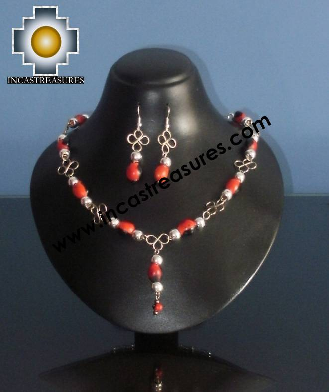 Jewelry kit Huayruro Seeds Awasqa - Product id: Andean-Jewelry10-06