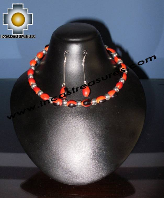 Jewelry kit Huayruro Seeds paru - Product id: Andean-Jewelry10-11