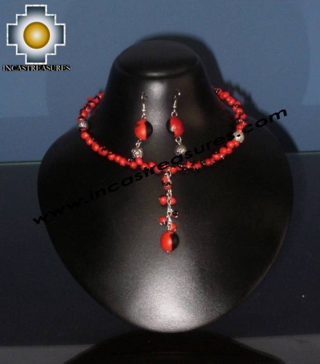 Jewelry kit Huayruro Seeds qhuya - Product id: Andean-Jewelry10-12