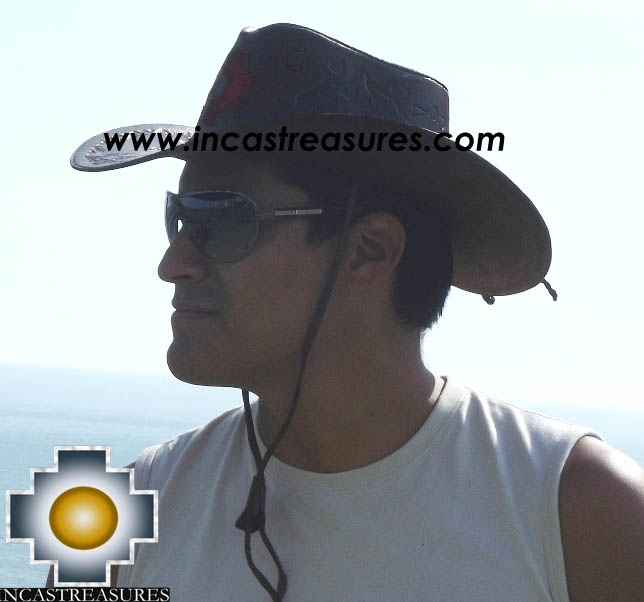 Leather Hat Chakana Legacy - Product id: leather-hat12-01 Photo03