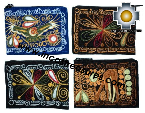 handmade andean wallet assorted, wholesale