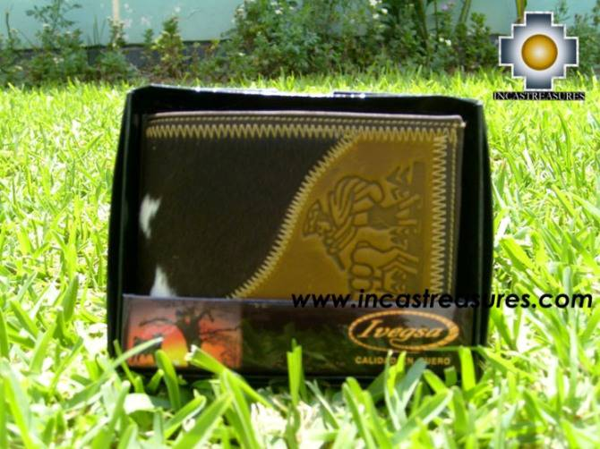 Andean Leather Wallet Inca Utuya,free shipping