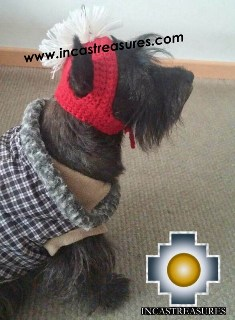 Alpaca Hat for Dogs spartan dog - Product id: dog-clothing-14-01 Photo04