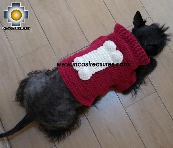 100% Alpaca Sweater for Dogs Huesito
