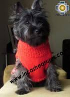 Dog Turtle neck sweater red - Product id: dog-clothing-10-07 Photo03