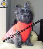 Dog sweater turtle neck red