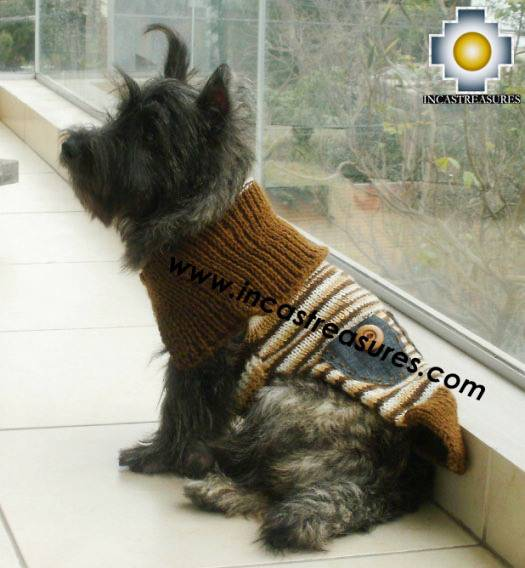 Dog Turtle neck sweater Brown - Product id: dog-clothing-10-06