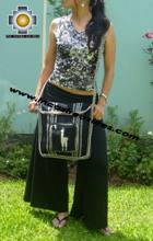 Andean Alpaca wool Handbag MESSENGER black - Product id: HANDBAGS09-43 Photo03