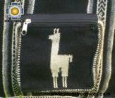 Andean Alpaca wool Handbag MESSENGER black - Product id: HANDBAGS09-43 Photo02