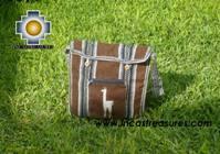 Andean Alpaca wool Handbag MESSENGER chocolate - Product id: HANDBAGS09-48 Photo02