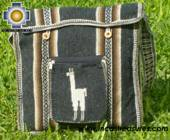 Andean Alpaca wool Handbag MESSENGER dark-grey - Product id: HANDBAGS09-44 Photo03