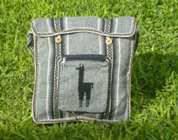 Andean Alpaca wool Handbag MESSENGER silver - Product id: HANDBAGS09-45 Photo03