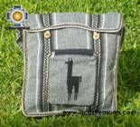 Andean Alpaca wool Handbag MESSENGER silver - Product id: HANDBAGS09-45 Photo02