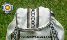 big alpaca travel backpack IVORY - Product id: HANDBAGS09-38 Photo03