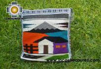 big Handmade sheep wool square handbag landscape - Product id: HANDBAGS09-27 Photo02