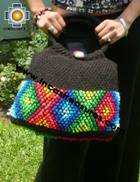 Black Handmade Handbag with Dots - Product id: HANDBAGS09-01 Photo02