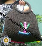 Black Handmade Handbag with Dots - Product id: HANDBAGS09-01 Photo03