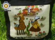Handbag with handmade embroided ayacucho - Product id: HANDBAGS09-72 Photo02