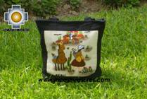 Handbag with handmade embroided ayacucho - Product id: HANDBAGS09-72 Photo01