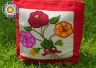 Handbag with handmade embroided FLOWERS - Product id: HANDBAGS09-71 Photo02