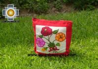 Handbag with handmade embroided FLOWERS - Product id: HANDBAGS09-71 Photo01