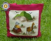 Handbag with handmade embroided grazing - Product id: HANDBAGS09-74 Photo03