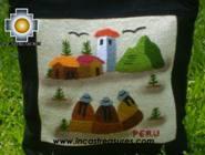 Handbag with handmade embroided weavers - Product id: HANDBAGS09-72 Photo02