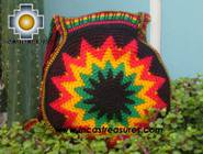 Handmade Rasta Round Handbag - Bright Star - Product id: HANDBAGS09-37 Photo02