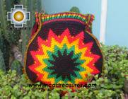Handmade Rasta Round Handbag - Bright Star - Product id: HANDBAGS09-37 Photo04
